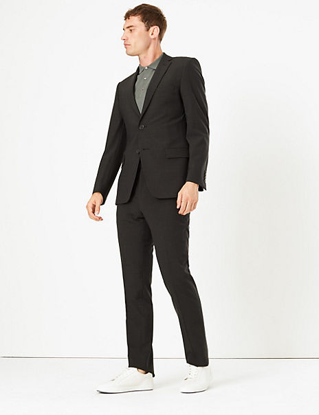 The Ultimate Grey Slim Fit Checked Suit