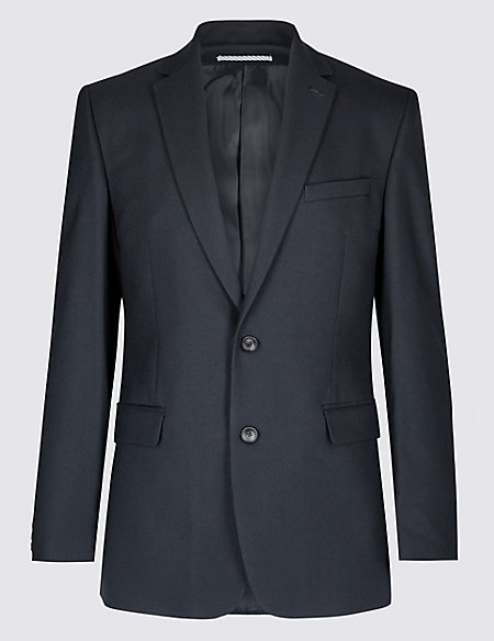 Big & Tall Navy Textured Slim Fit Suit