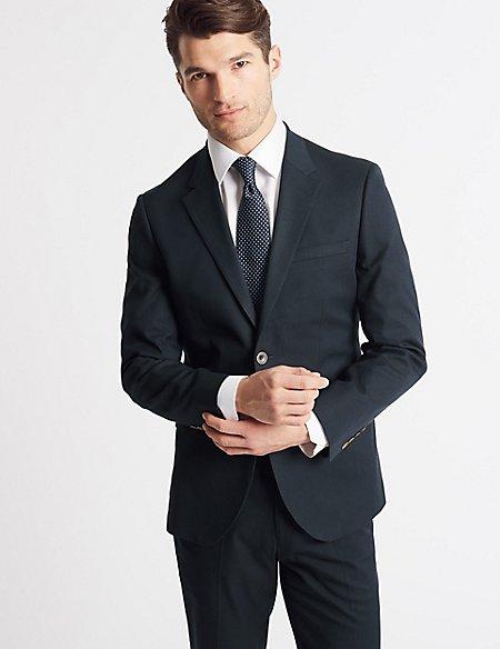 Cotton Rich Tailored Fit Suit