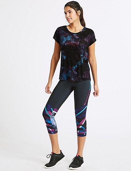 Short Sleeve Sport T-Shirt & Leggings Outfit