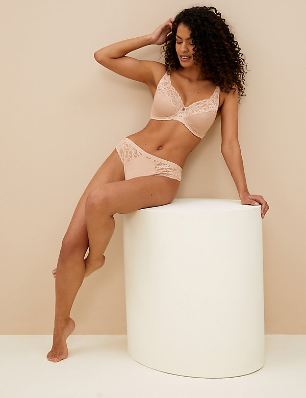 Wild Blooms Non Padded Full Cup Bra Set