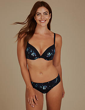 2 Pack Lace Set with Padded Push-Up A-DD