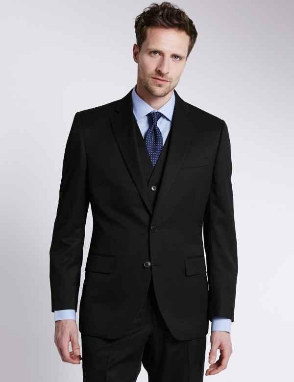 Clothing, Shoes & Accessories Suits & Suit Separates Useful Mans Black Pinstripe Suit Size 42chest 34waist 31leg