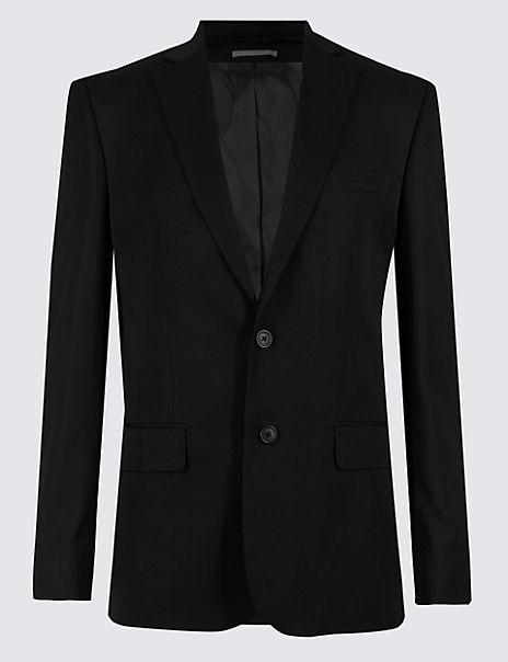 Big & Tall Black Regular Fit Suit