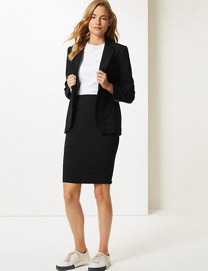 Women's Clothing Learned Brand New Marks And Spencer Womens Black Skirt Size 14 Long 100% Original Skirts