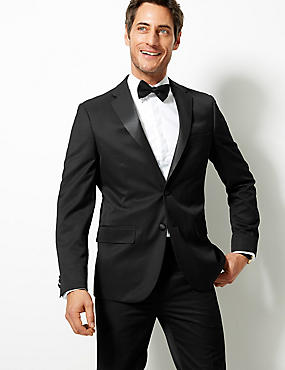 Black Tailored Fit Tuxedo Suit