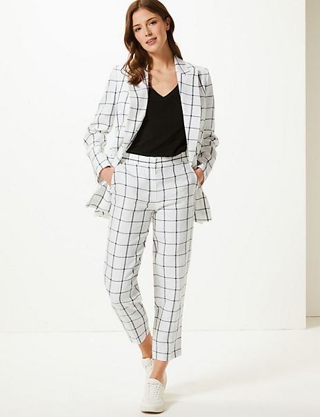 Pure Linen Blazer & Trousers Suit Set