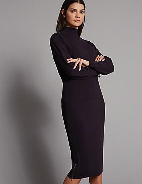 Zipped Detail Jumper & Skirt Suit Set