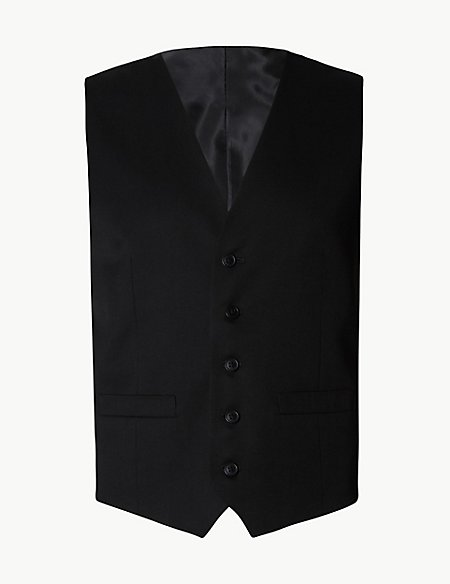 Black Regular Fit 3 Piece Suit