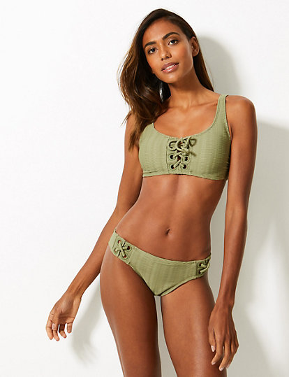 7d5b9521cf82e ... Textured Scoop Neck Bikini Set. image