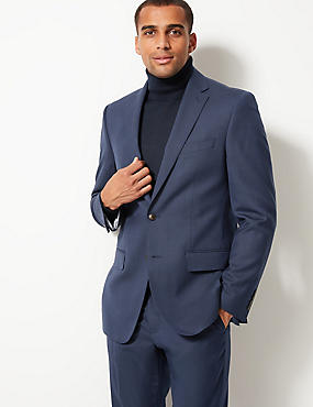 Indigo Textured Regular Fit Suit