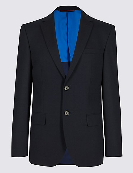 Navy Tailored Fit Travel Suit