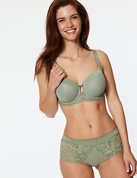 Nina Lace Set with Padded Full Cup A-E