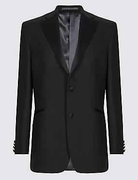 Black Regular Fit Wool Tuxedo Suit