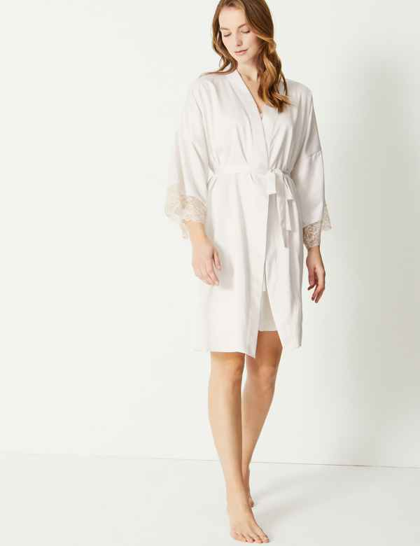 3411a5fce Bridal Satin Dressing Gown   Chemise Set
