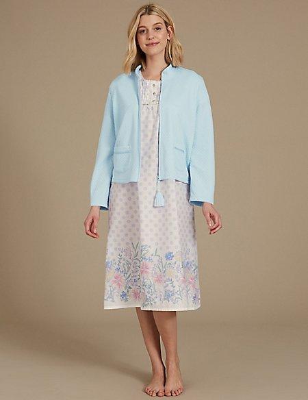 Bed Jacket & Nightdress Set