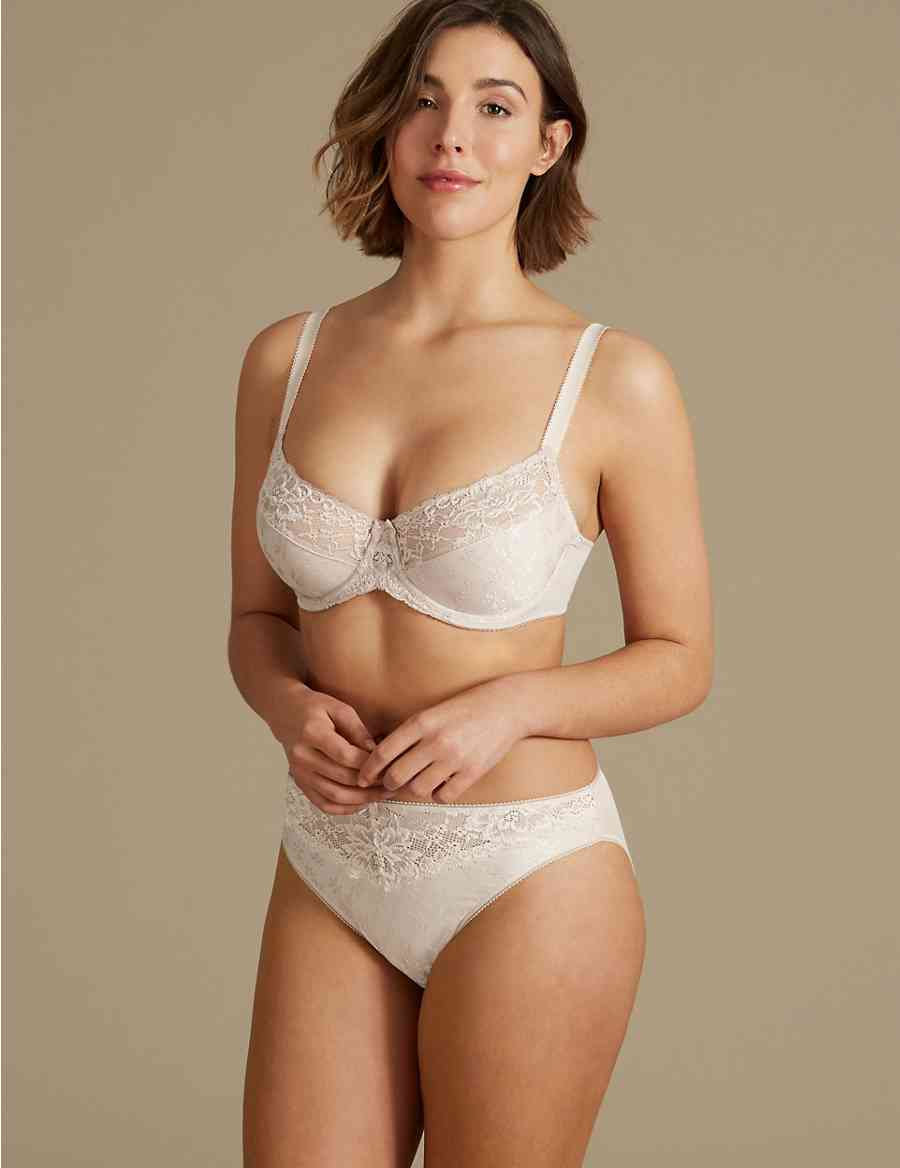 1b7628a99e Jacquard Lace Minimiser Set with Full Cup C-G