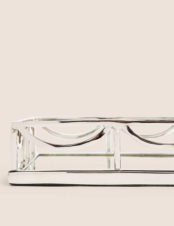 Deco Mirrored Rectangular Tray M S, Silver Mirror Tray Rectangle
