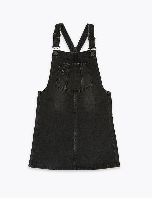 Denim Pinafore Dress (6-16 Years)