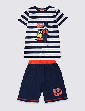 06277f950e2 Despicable Me™ Minion Pure Cotton Pyjamas (3-14 Years) | M&S