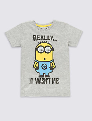 8f1ff47510b Despicable Me™ Minion Really It Wasn't Me Slogan T-Shirt (2-8 Years ...