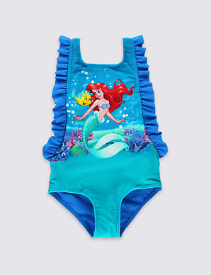 52bfd3d9de Disney Princess Ariel Swimsuit with Lycra® Xtra Life™ (0-5 Years) | M&S