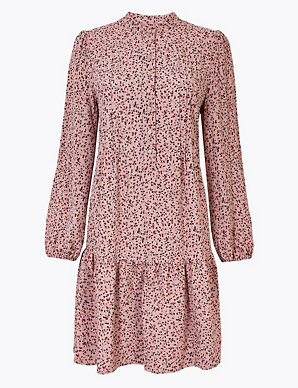 28361fb65fc46 Ditsy Floral Print Relaxed Mini Dress   M&S Collection   M&S