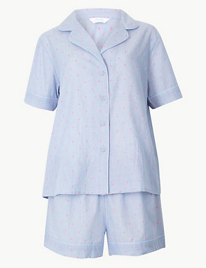 5f729ef31a5 Dobby Revere Collar Short Pyjama Set