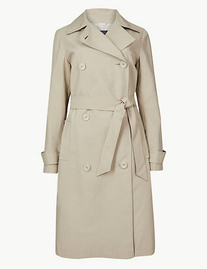13f611310b7e Double Breasted Trench Coat | M&S Collection | M&S