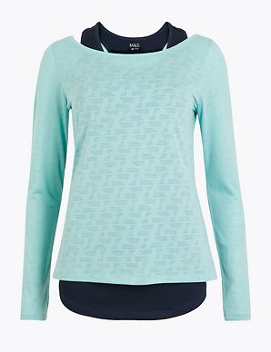 3ca07c8bea Double Layer Quick Dry Long Sleeve Top