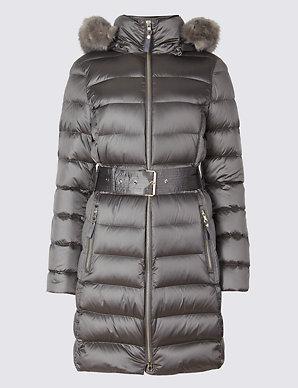 4b636ecac08 Down & Feather Jacket | Per Una | M&S