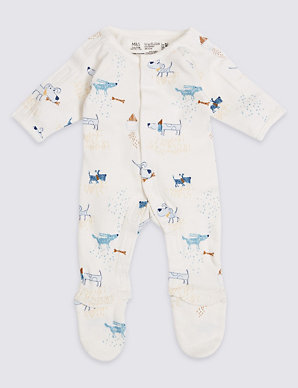 1a77dd069 Easy Dressing 3 Pack Premature Pure Cotton Sleepsuits   M&S