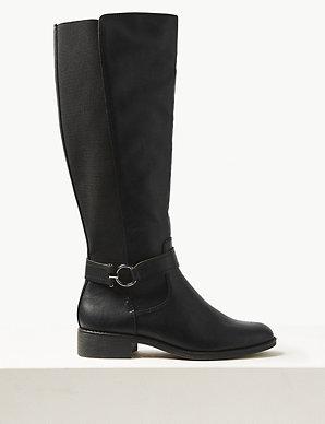 b47f1d36318e Elastic Back Rider Knee Boots