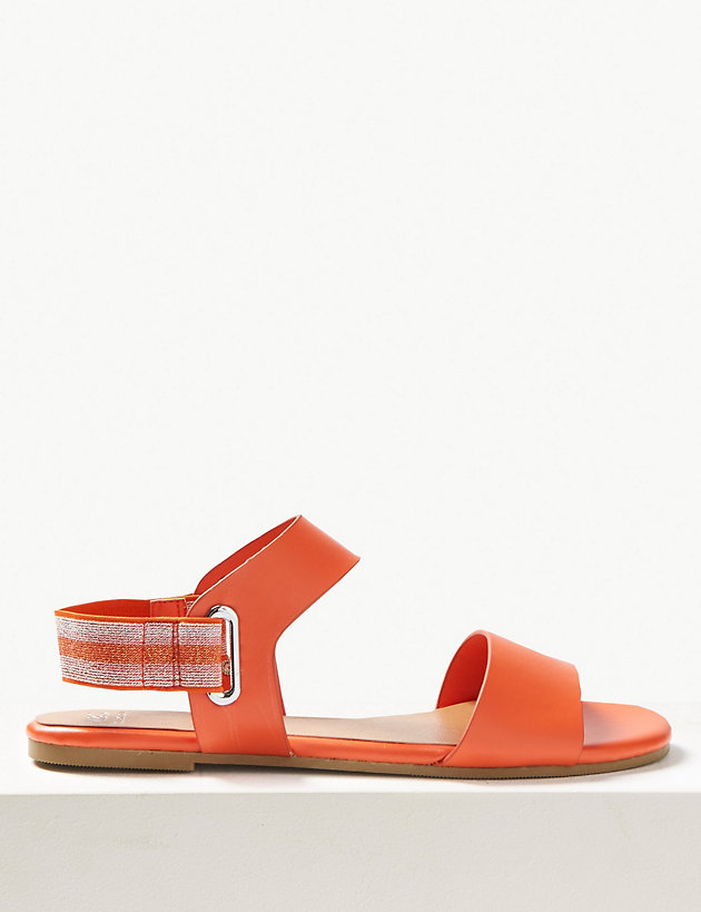 Elastic Ring Detail Sandals