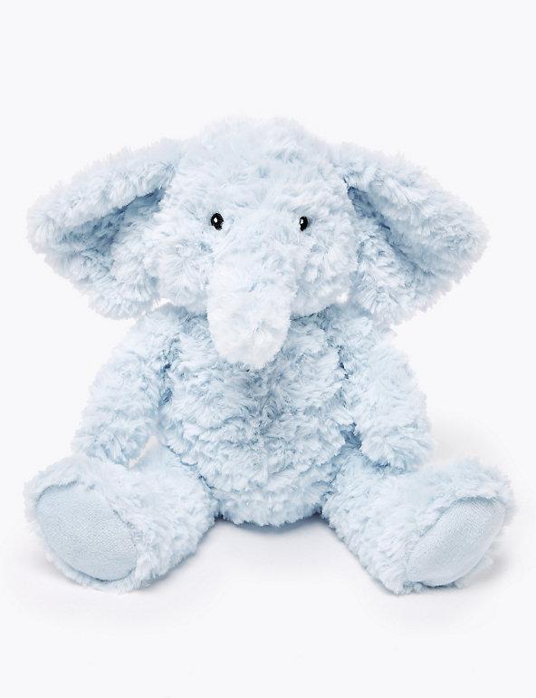 M/&S BLUE ELEPHANT SOFT TOY