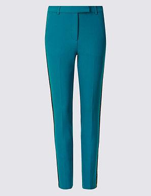 94712fa681b7 Embellished Side Stripe Trousers