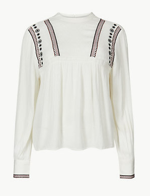 3d87abc6df3dd2 Embroidered Blouse | M&S Collection | M&S