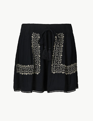 c8e1732eb5 Embroidered Casual Shorts | M&S Collection | M&S