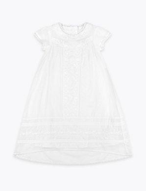 ce6ac8af9 Embroidered Christening Baby Dress | Autograph | M&S