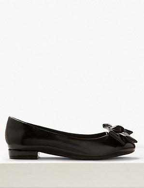 8dcc31d8ac3e Extra Wide Fit Bow Ballet Pumps | M&S Collection | M&S