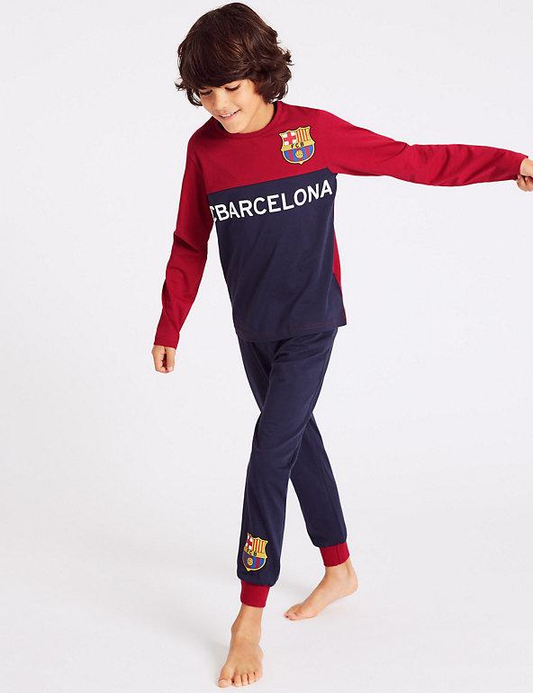 Pyjama Set FC Barcelona PyjamasKids Football Club PJsBoys Barcelona F.C