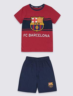 b1f58af0bc2 FC Barcelona™ Short Pyjamas (3-16 Years) | M&S