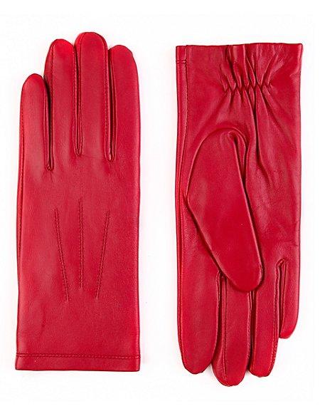 Leather Stitch Detail Gloves