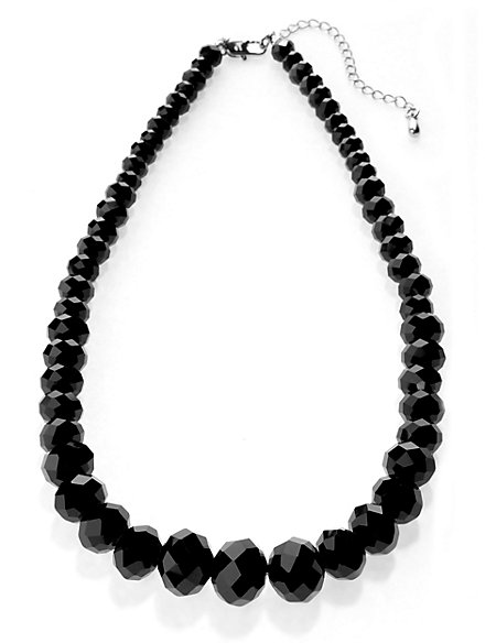 Multi-Faceted Bead Necklace