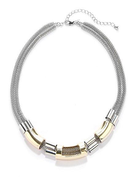 Tri-Tube Chain Necklace