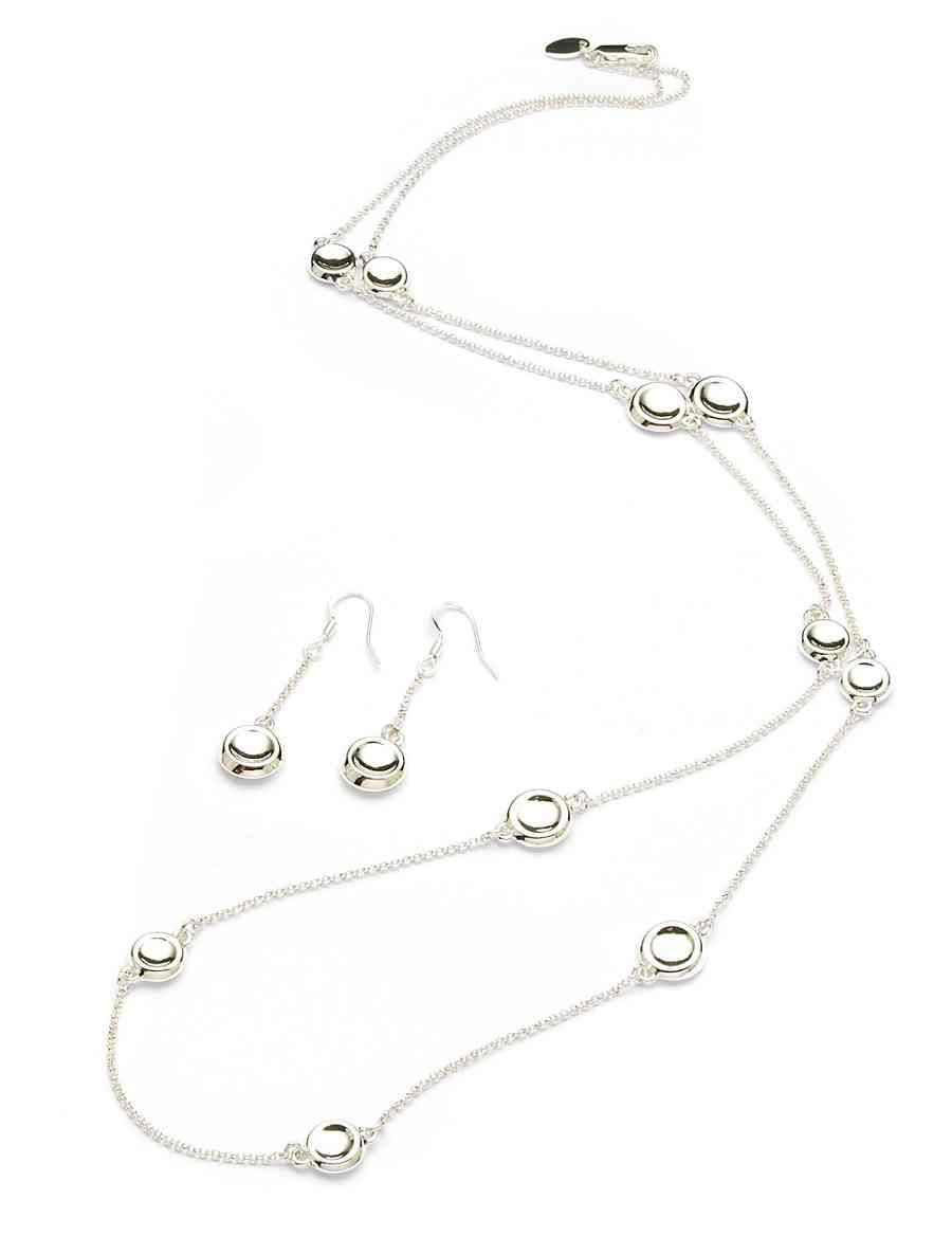 Snowflake Necklace Earrings Set