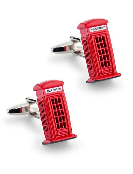 Telephone Box Rectangular Cufflinks