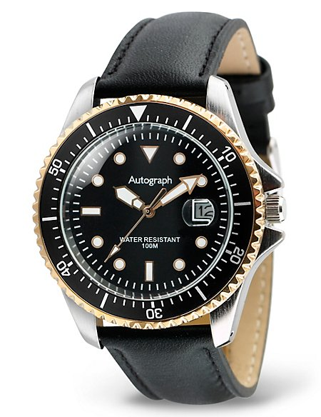 Round Face Analogue Strap Watch