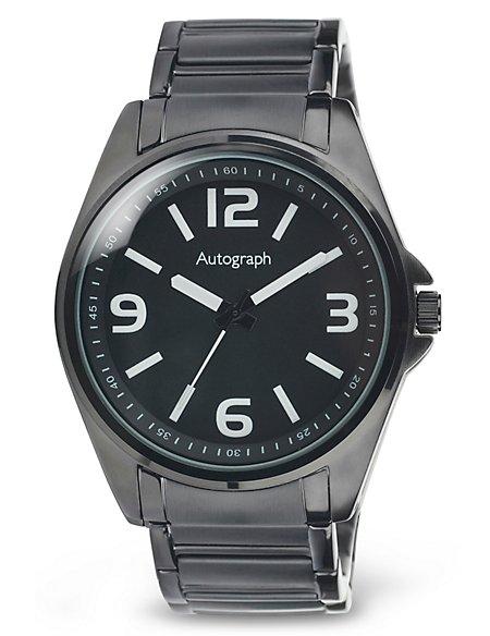 Round Face Analogue Bracelet Watch