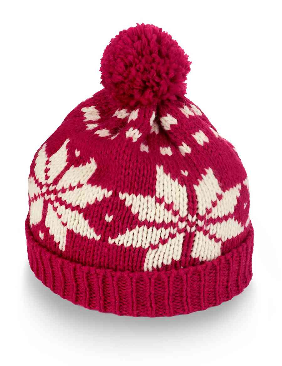 49b647208cb Nordic Knitted Bobble Hat